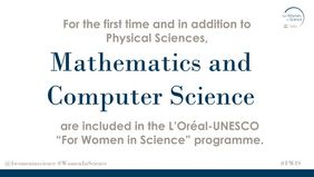 2019 L'Oréal-UNESCO for Women in Science Awards