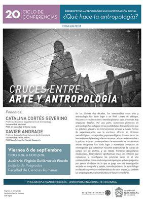 [XX Ciclo de Conferencias Perspectivas Antropológicas e Investigación Social] Conferencia «Cruces entre Arte y Antropología»