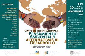 Simposio Internacional «Pensamiento Ambiental y Alternativas al Desarrollo desde una perspectiva Sur-Sur y Sur-Norte»