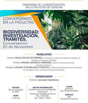 [Conversando en la Facultad de Ciencias] «Biodiversidad: investigación, trámites»
