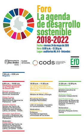 Foro «La agenda de desarrollo sostenible 2018-2022»