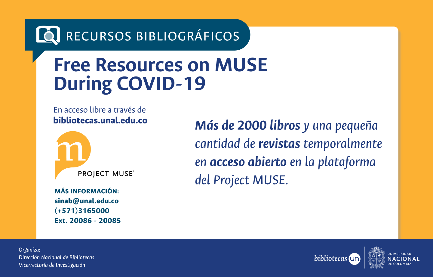 Free Resources on MUSE During COVID-19