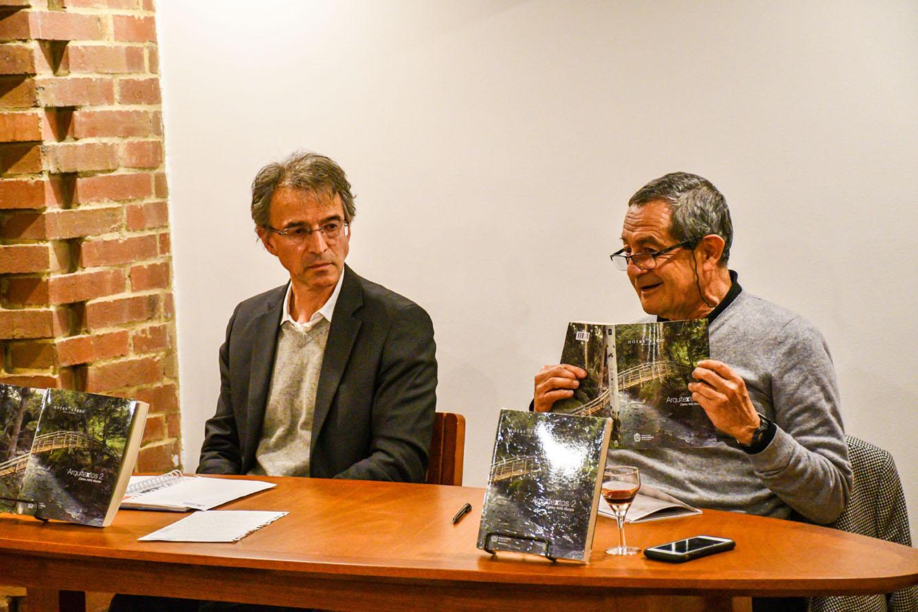 Lanzamiento del libro 'Arquitextos 2. Escritos desde la Universidad Nacional de Colombia 2005 - 2014' del profesor Carlos Niño (Foto: David Sánchez G./Editorial UN)