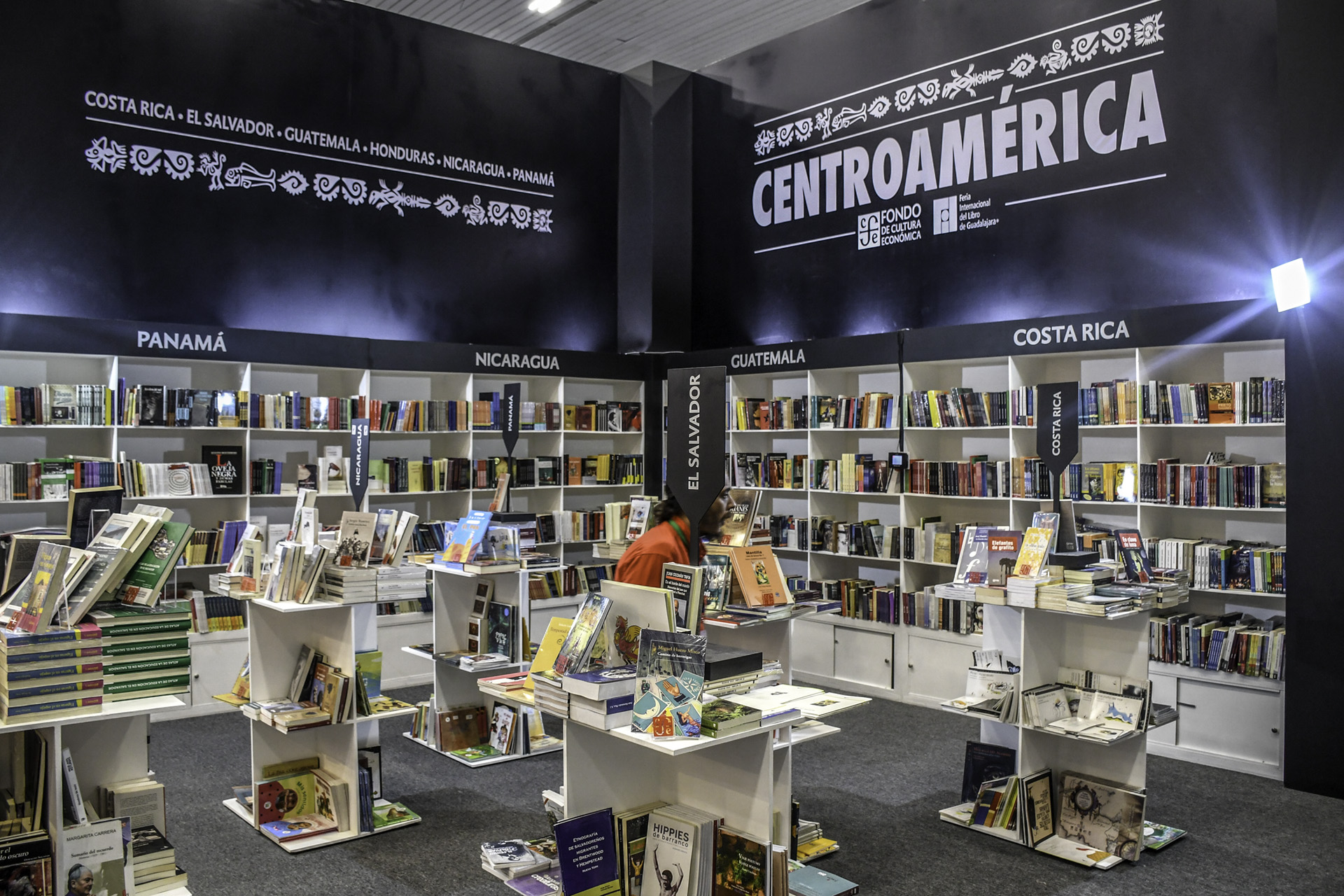 Centro América en la FIL Guadalajara (Foto: David Sánchez / Editorial UN)