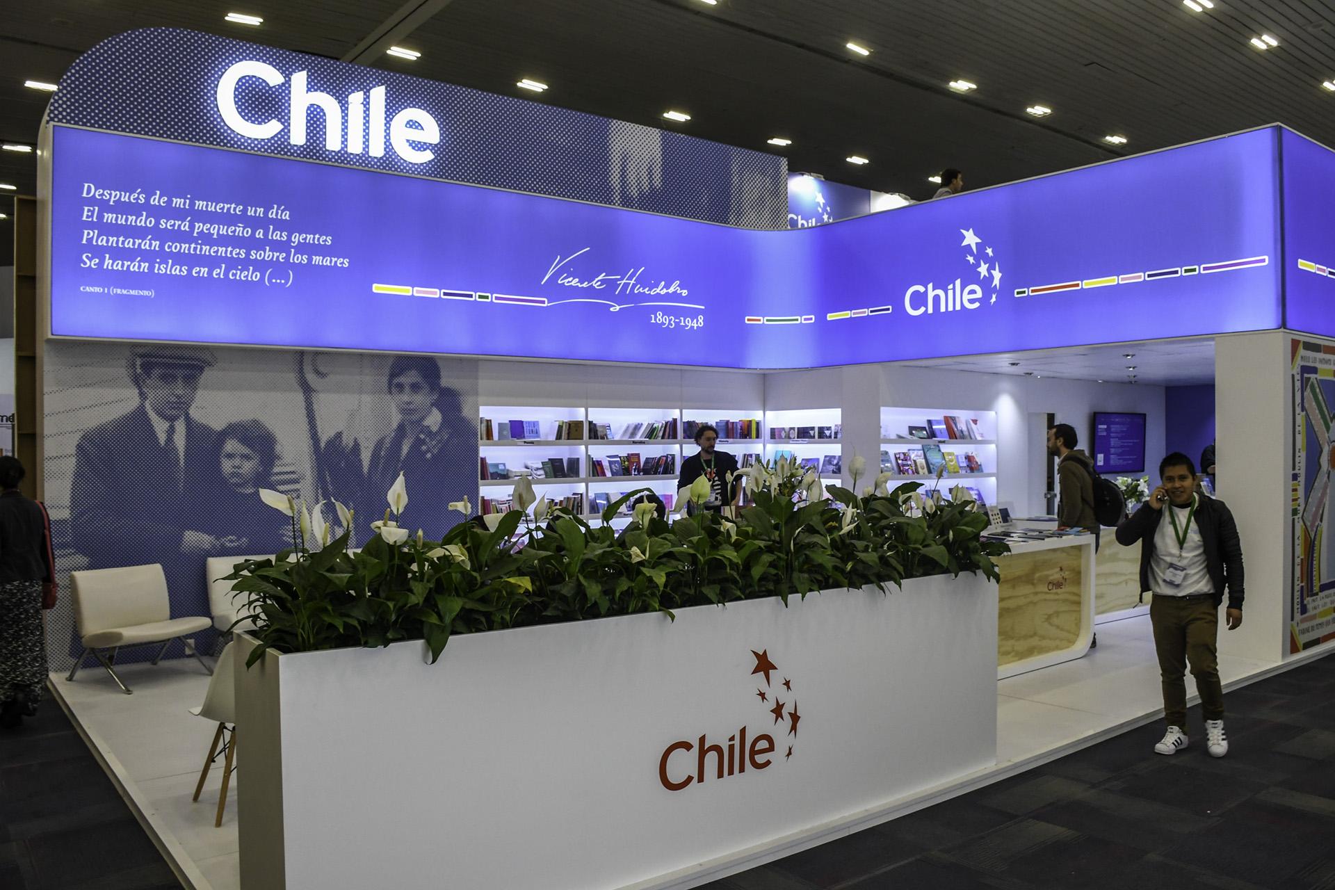 Chile en la FIL Guadalajara (Foto: David Sánchez / Editorial UN)