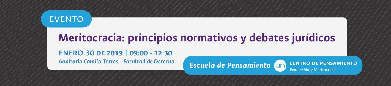 Seminario «Meritocracia: Principios Normativos y Debates Jurídicos»