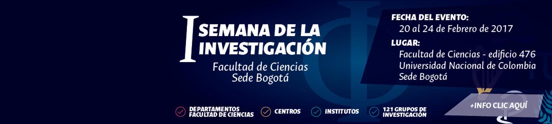 I Semana de la Investigación (Facultad de                   Ciencias, U.N. Bogotá)