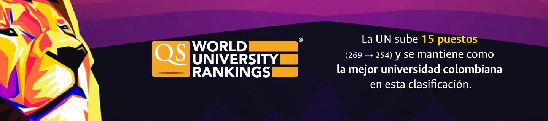 La U. N. sube 15 lugares (269 ? 254) y es, por segundo año consecutivo, la mejor universidad colombiana en esta clasificación