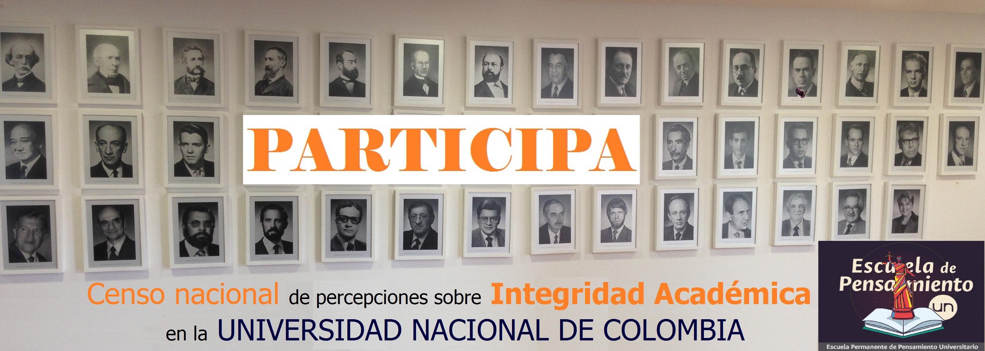 Censo Nacional de Percepciones sobre Integridad Académica en la Universidad Nacional de Colombia