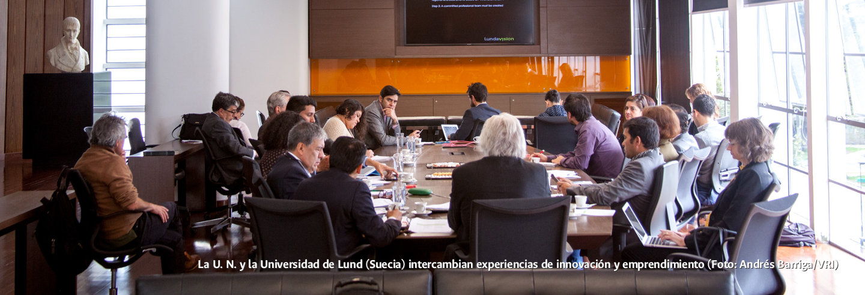 La U.N. y la Universidad de Lund (Suecia)             intercambian experiencias de innovación y emprendimiento             (Foto: Andrés Barriga/VRI)