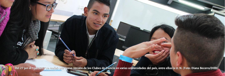 Del 27 jun al 1 jul 2017 se realizó una nueva versión             de los Clubes de Ciencia en varias universidades del país,             entre ellas la U.N. (Foto: Diana Becerra/DIEB)