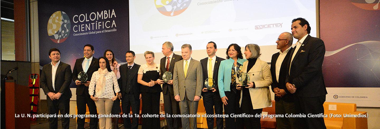 La U.N. participará en dos programas ganadores de             la 1a. cohorte de la convocatoria «Ecosistema Científico»             del programa Colombia Científica (Foto: Unimedios)