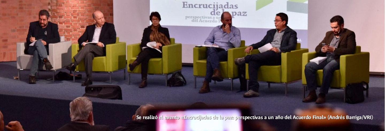 Se realizó el evento «Encrucijadas de la paz:             perspectivas a un año del Acuerdo Final» (Andrés             Barriga/VRI)