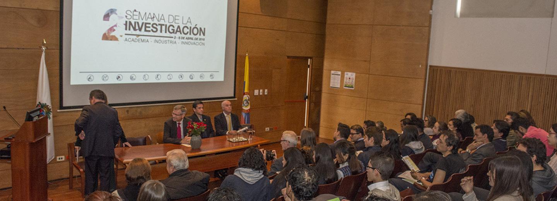La Facultad de Ciencias de la sede Bogotá realiza la 2a.         Semana de la Investigación (Foto: Unimedios)