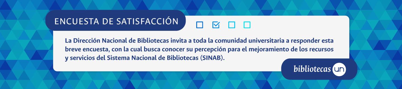 Encuesta de satisfacción SINAB 2018
