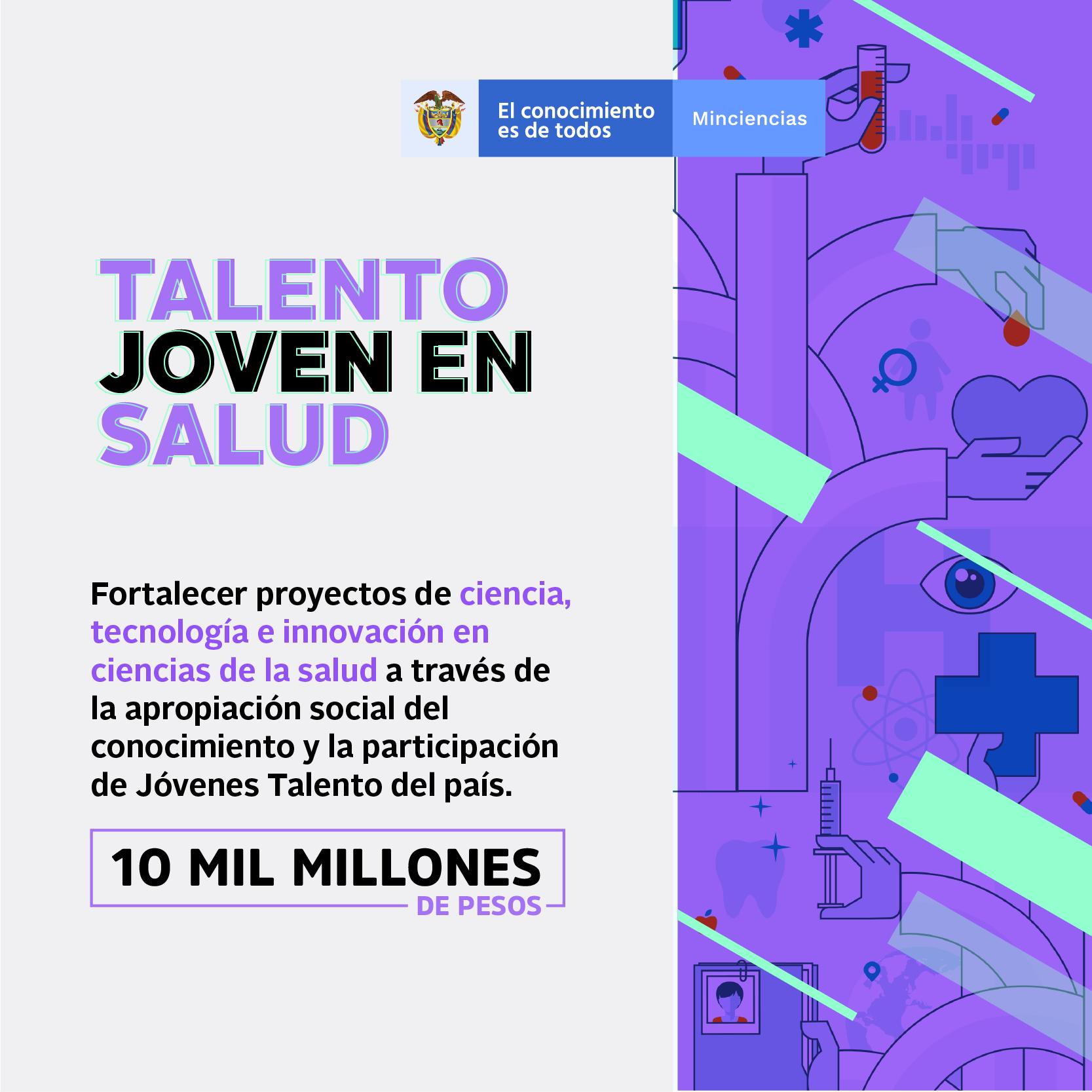 Talento joven en salud (Minciencias)