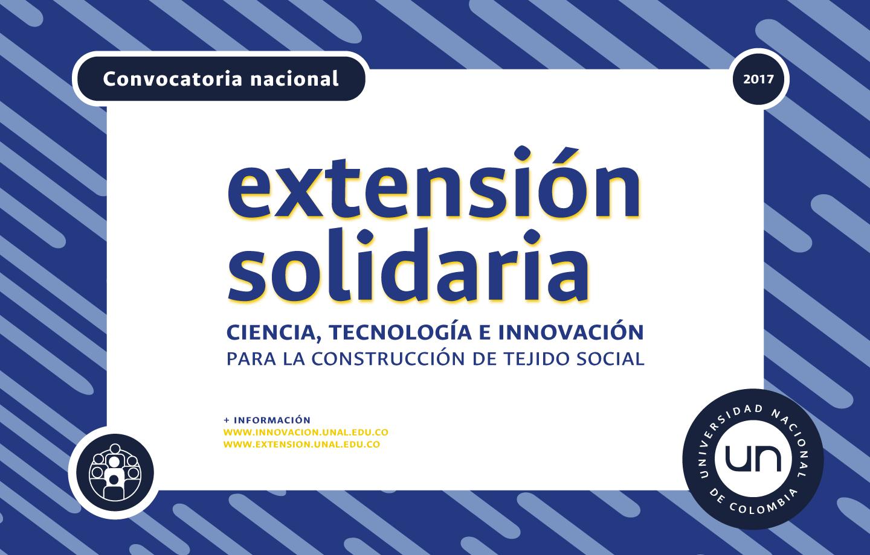 Adenda 4 - Convocatoria Nacional de Extensión Solidaria 2017: «Ciencia, Tecnología e Innovación para la construcción de tejido social»