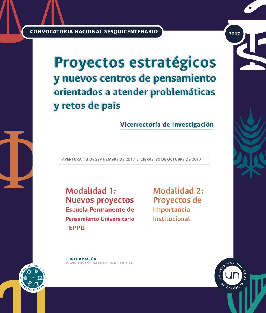 Lista preliminar de propuestas que cumplen con requisitos / Adenda 1 - Convocatoria Nacional Sesquicentenario Universidad Nacional de Colombia
