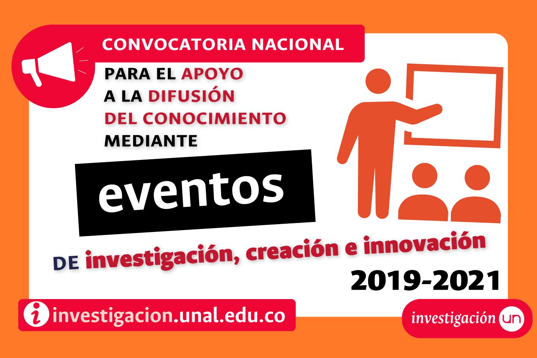 Convocatoria Nacional de Apoyo a la Difusión del Conocimiento mediante Eventos de Investigación, Creación e Innovación 2019-2021