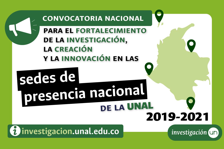 Convocatoria Nacional para el Fortalecimiento de la Investigación, la Creación y la Innovación en las Sedes de Presencia Nacional de la Universidad Nacional de Colombia 2019-2021