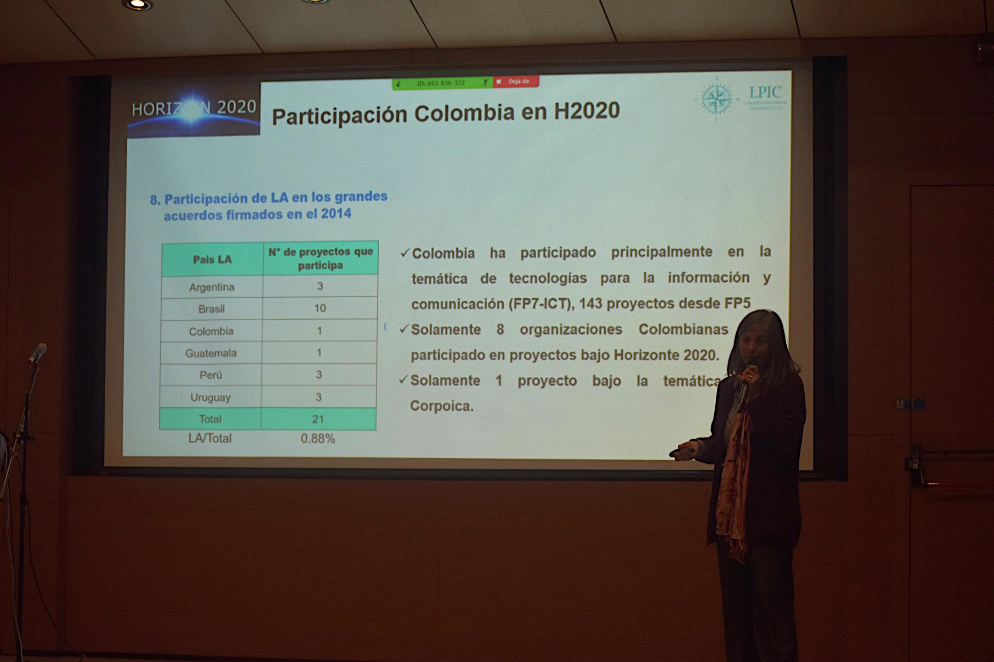 Lida Rodríguez, de Lidapatty International Consulting S.A.S. (Foto: Vicerrectoría de Investigación)