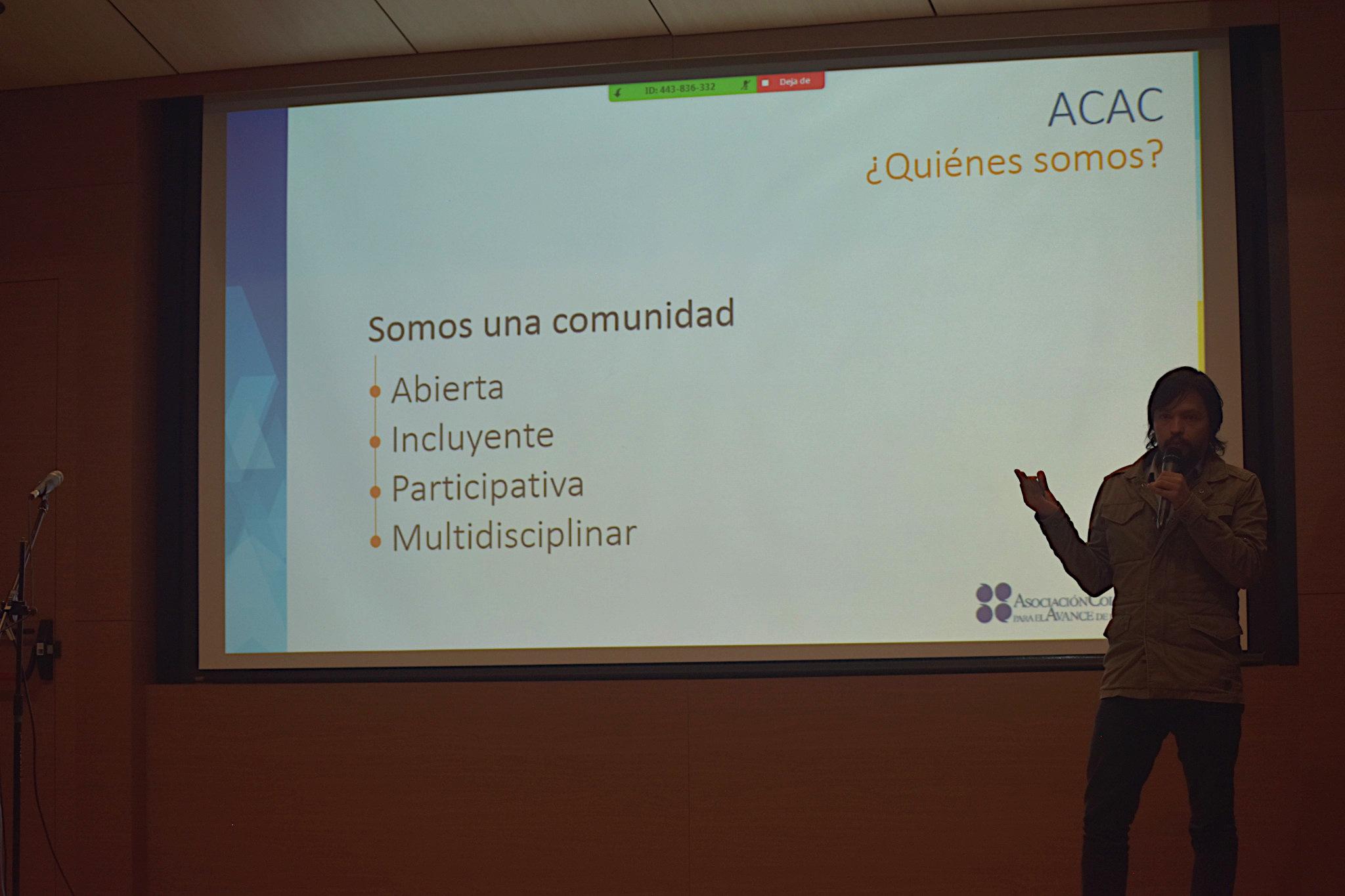Diego Chavarro, subdirector de la Unidad de Proyectos de la Asociación Colombiana para el Avance de la Ciencia (Foto: Vicerrectoría de Investigación)