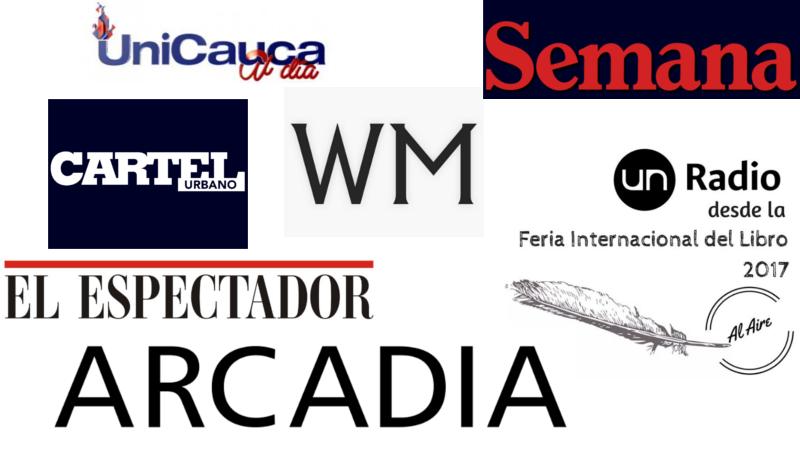'Collage' con logos de medios