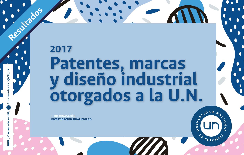 Patentes, marcas y diseño industrial concedidos a la U. N. en 2017
