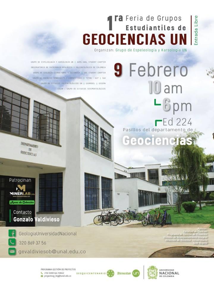 1a. Feria de Grupos Estudiantiles de Geociencias UN