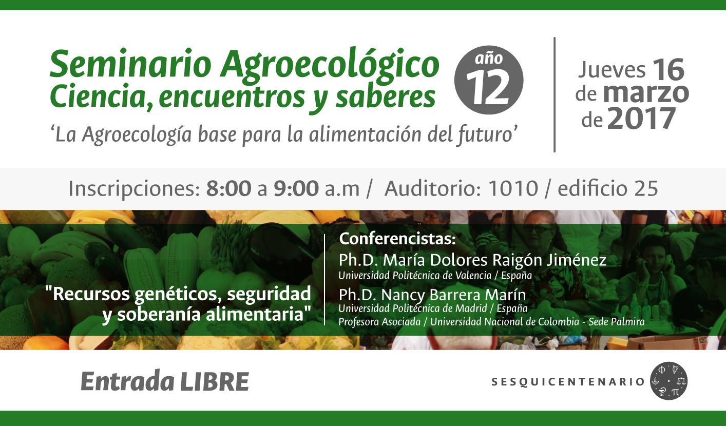 «Recursos genéticos, seguridad y soberanía alimentaria»