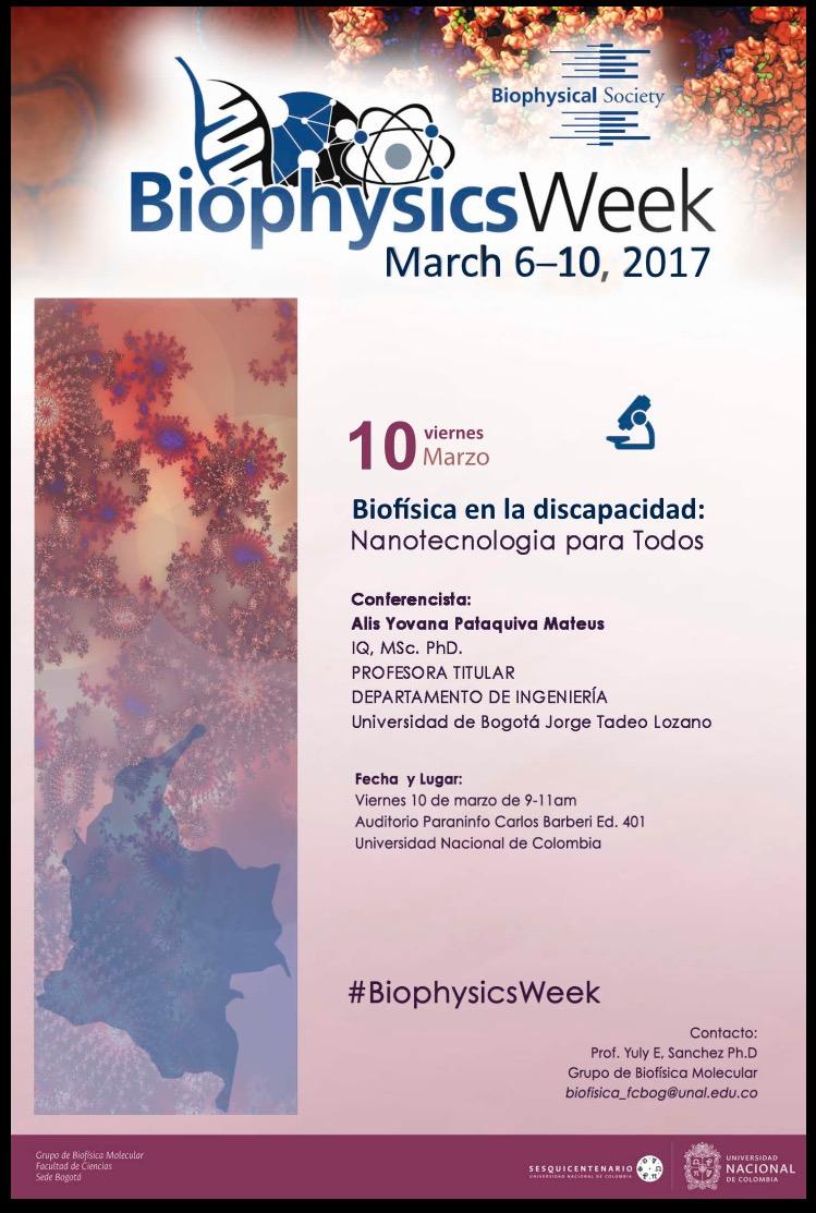 «Biofísica en la discapacidad: nanotecnología para todos» (Alis Yovana Pataquiva Mateus)