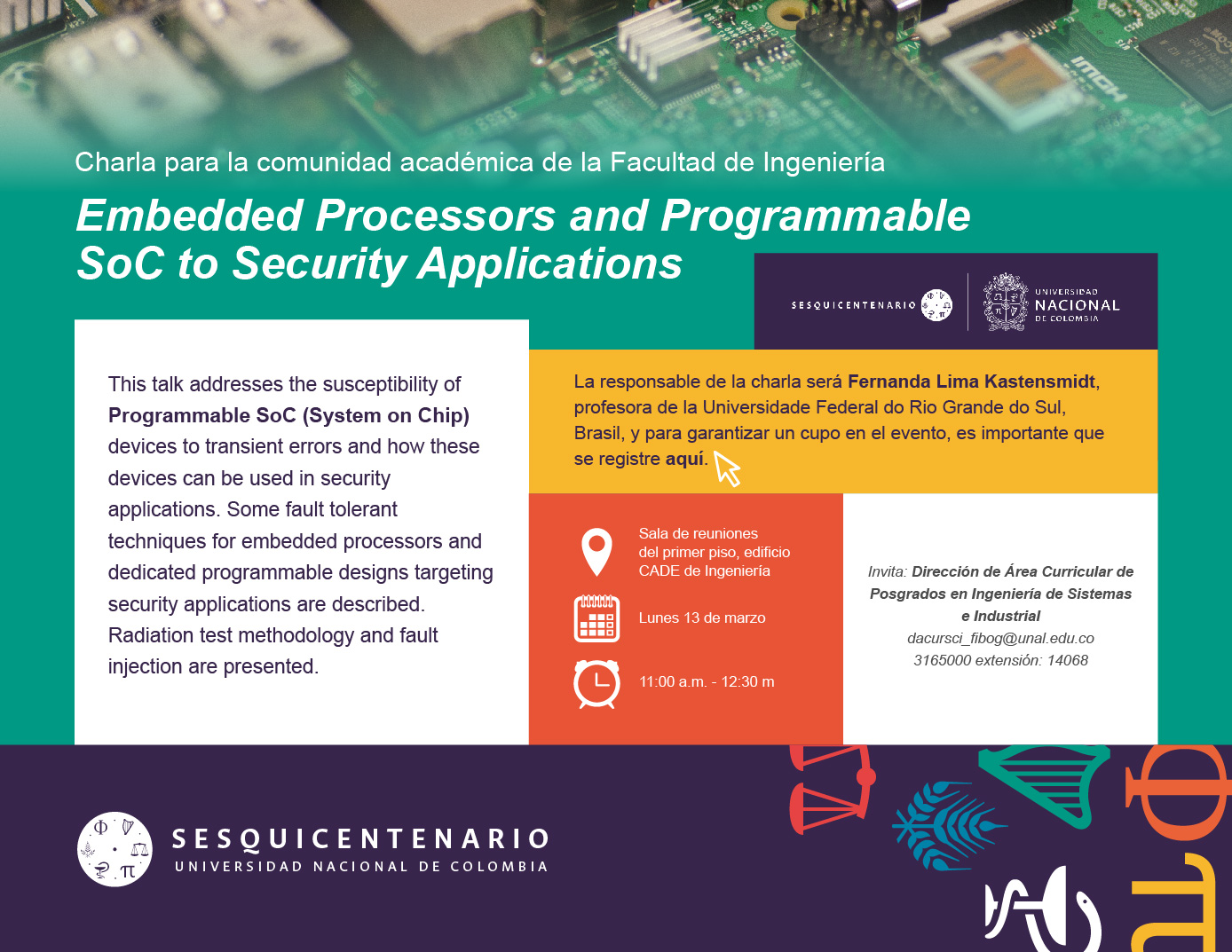 Charla para ingenieros «Embedded Processors and Programmable SoC to Security Applications»