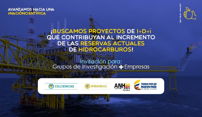 Convocatoria 773 (ejecución de proyectos de I+D+i en recobro mejorado de hidrocarburos (EOR)) de Colciencias