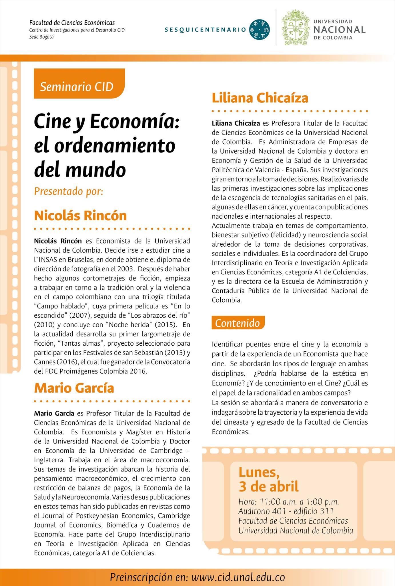 [Seminario CID] «Cine y Economía: el ordenamiento del mundo»