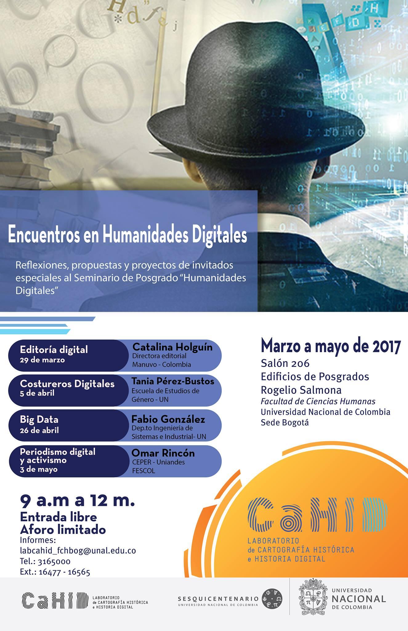 Encuentros en Humanidades Digitales (Laboratorio de Cartografía Histórica e Historia Digital, CaHID)