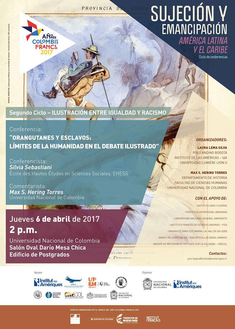 Conferencia «Orangutanes y esclavos: límites de la humanidad en el debate ilustrado» (Silvia Sebastiani)