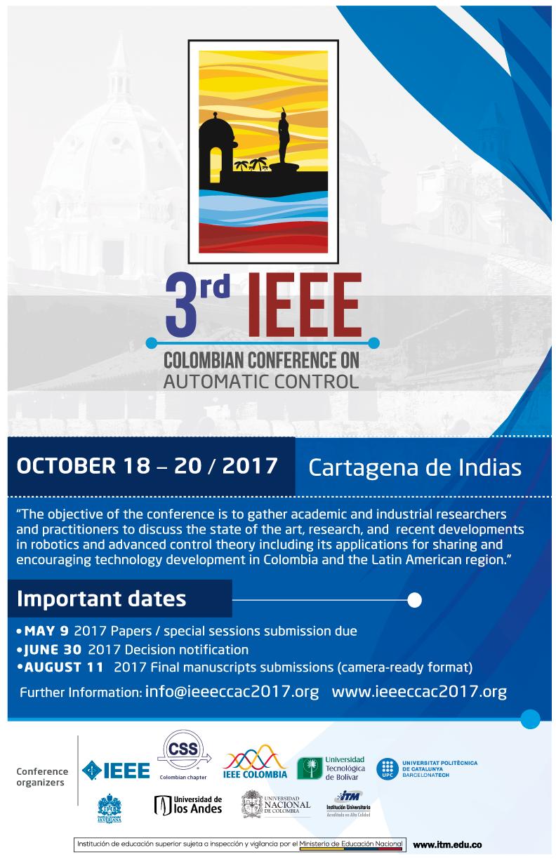 3er. IEEE Congreso Colombiano de Control Automático (IEEE CCAC 2017)