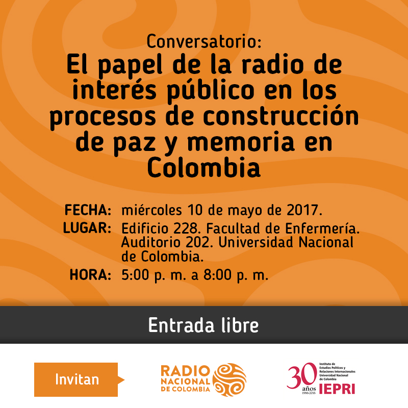 Conversatorio «El papel de la radio de interés público en los procesos de construcción de paz y memoria en Colombia»
