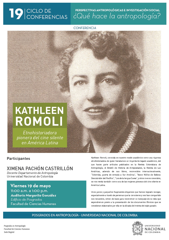 «Kathleen Romoli, etnohistoriadora pionera del cine silente en América Latina»