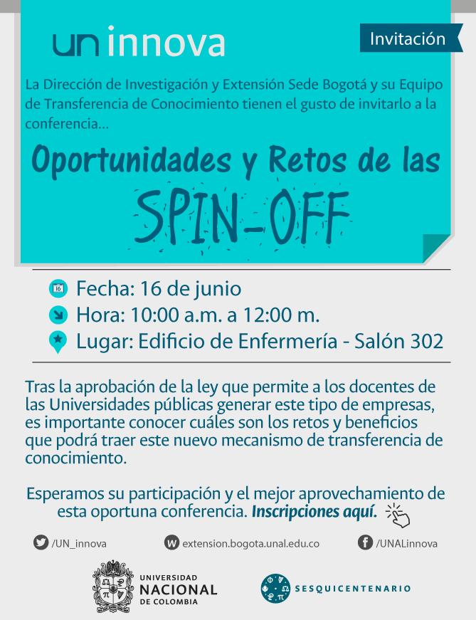 Conferencia «Oportunidades y retos de las 'spin-off'»