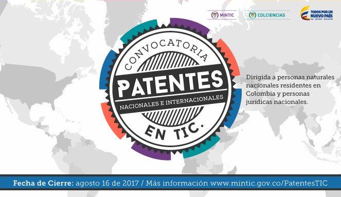 Convocatoria 788 (para apoyar el alistamiento y la presentación de solicitudes de patente por las vías nacional (oficina nacional) e internacional (PCT) relacionadas con las Tecnologías de la Información y las Comunicaciones) de Colciencias