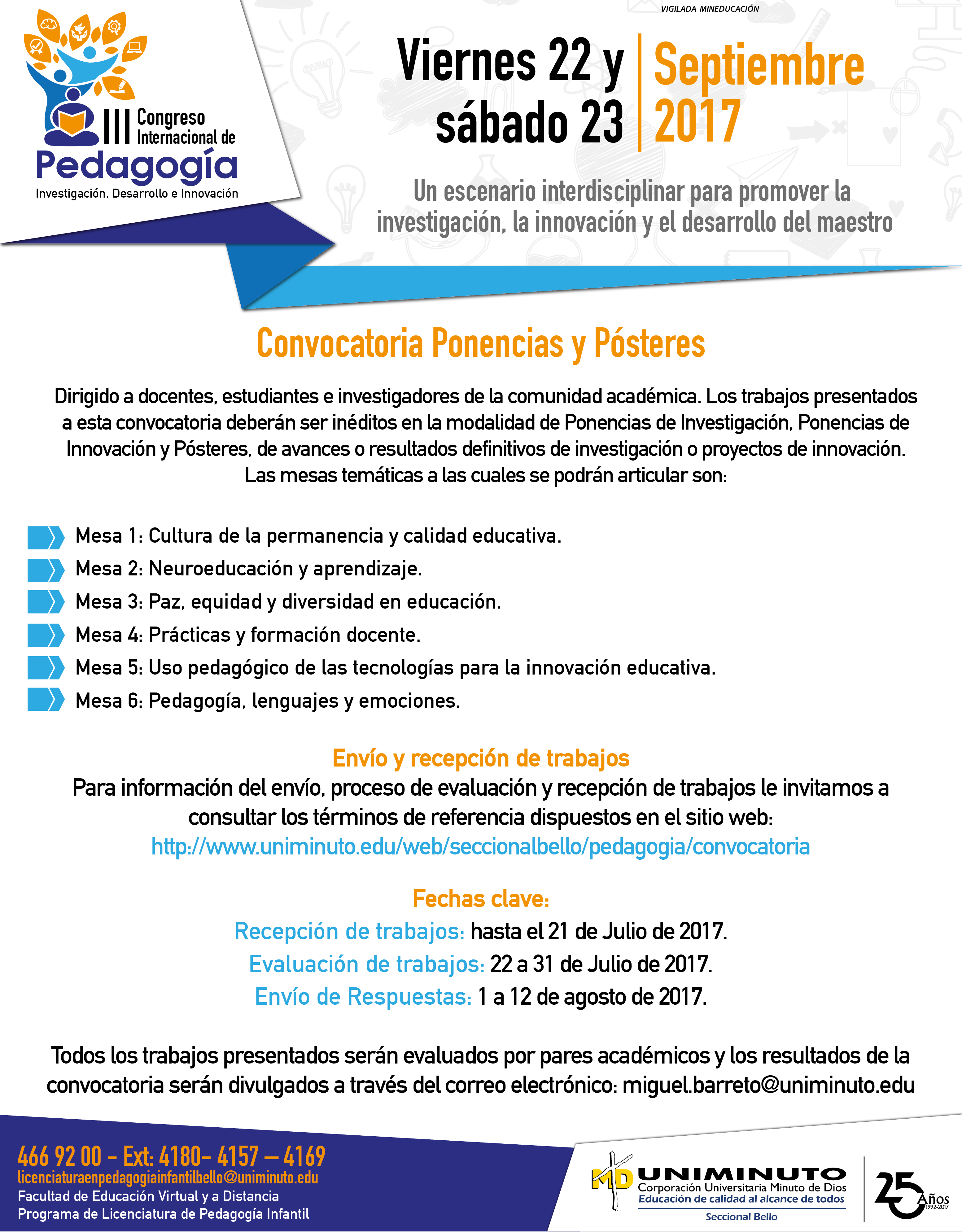 III Congreso Internacional de Pedagogía «Un escenario interdisciplinar para promover la investigación, la innovación y el desarrollo del maestro»