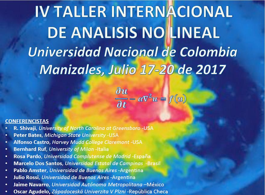 IV Taller Internacional de Análisis no Lineal y Ecuaciones Diferenciales Parciales