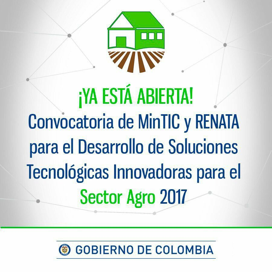 Convocatoria MinTIC Agro 2017
