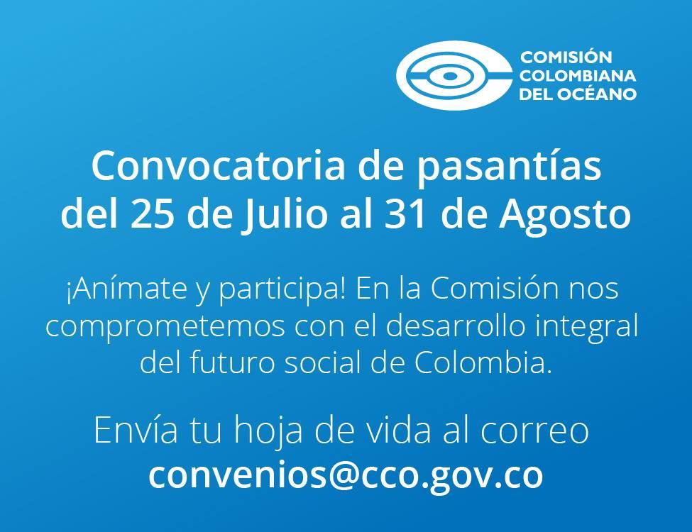 Convocatoria de pasantías en la Comisión Colombiana del Océano (CCO) 2017