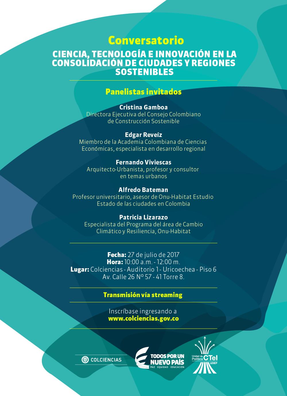 Conversatorio «Ciencia, tecnología e innovación en la consolidación de ciudades y regiones sostenibles»