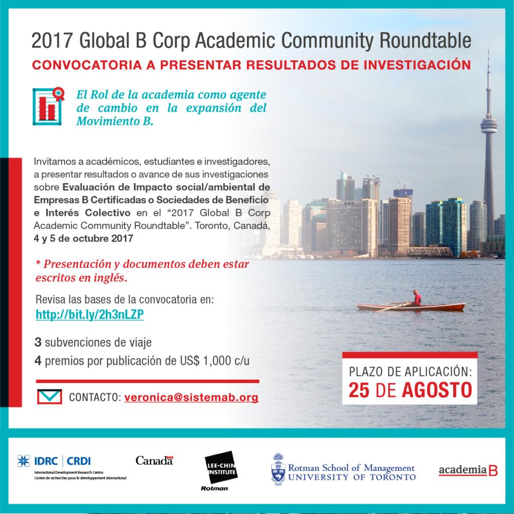 Encuentro Académico Global del movimiento de Empresas B en Canadá