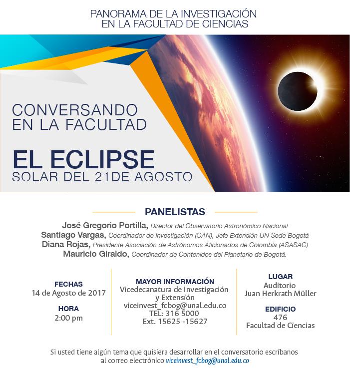 [Conversando en la Facultad de Ciencias] «El eclipse del 21 de agosto de 2017»