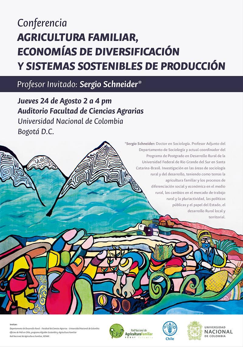 Conferencia «Agricultura familiar, economías de diversificación y sistemas sostenibles de producción» (Sergio Schneider)