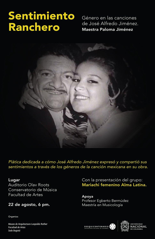 Conferencia «Sentimiento ranchero: género en las canciones de José Alfredo Jiménez» (Paloma Jiménez)